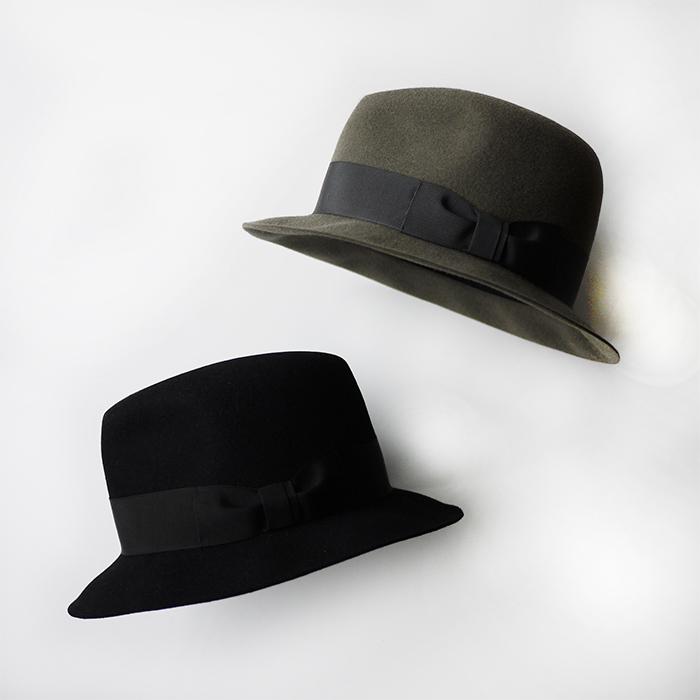 KIJIMA TAKAYUKI / Center Crease Hat (Wide Brim)
