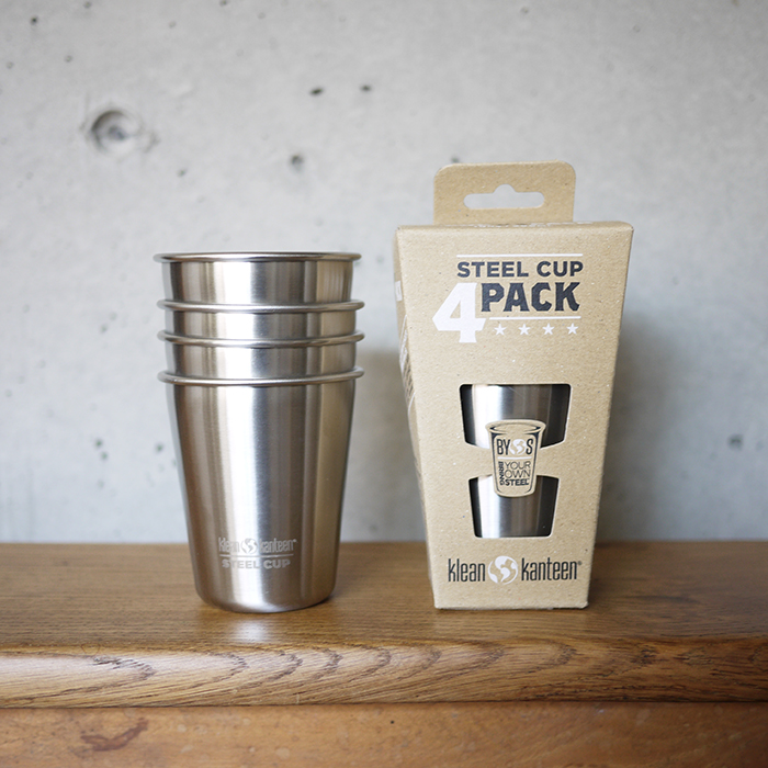 kleankanteen-steelcup10oz4pack