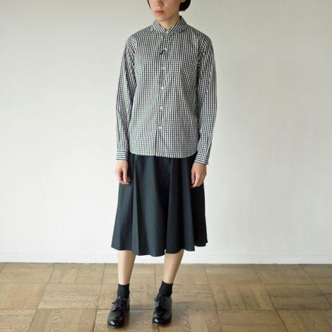 leglazik-roundcollarginghamcheckshirts