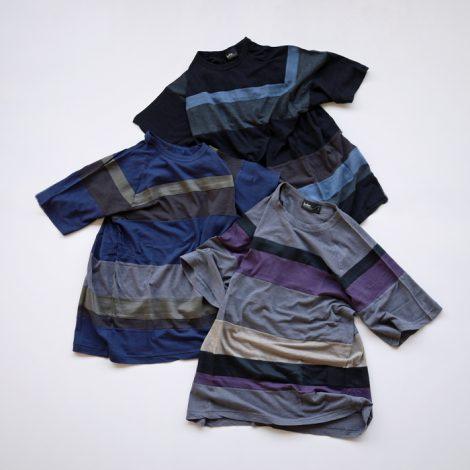 kolor-60cottonnylonbordertshirts