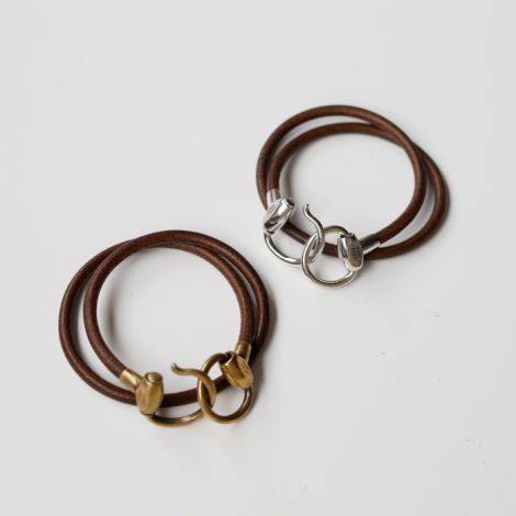 waccowacco-brownbitxleatherstringbracelet