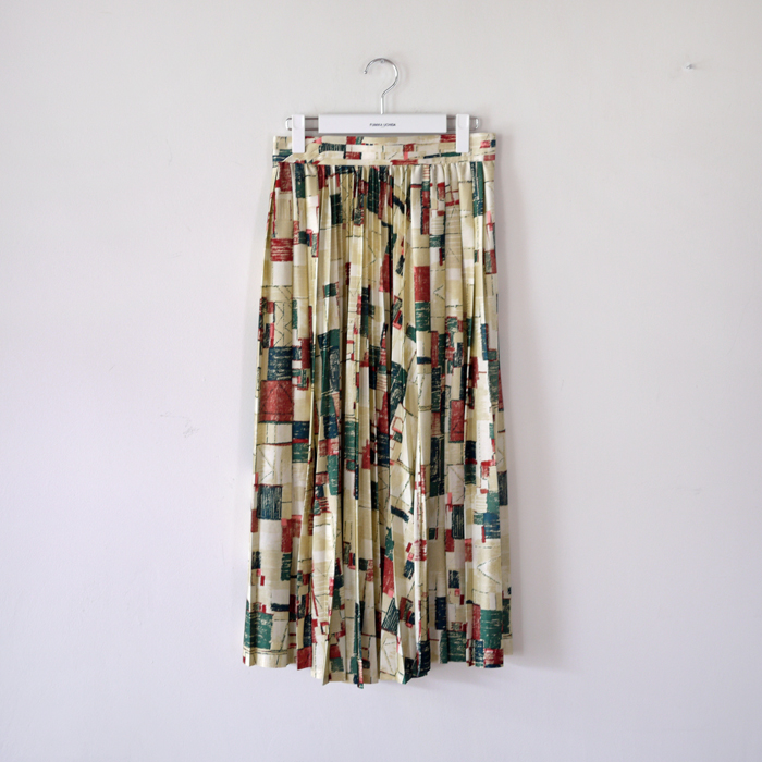 paint print pleated skirt eureka factory heights
