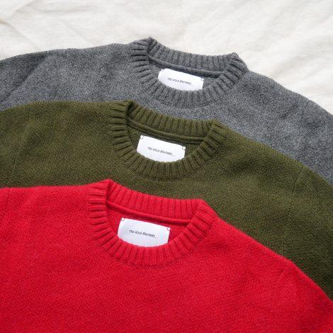 theinouebrothers-solidjacquardcrewnecksweater
