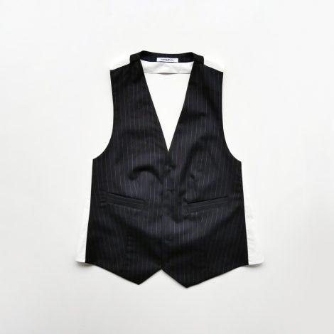 fumikauchida-pinstripe backlesswaistcoats