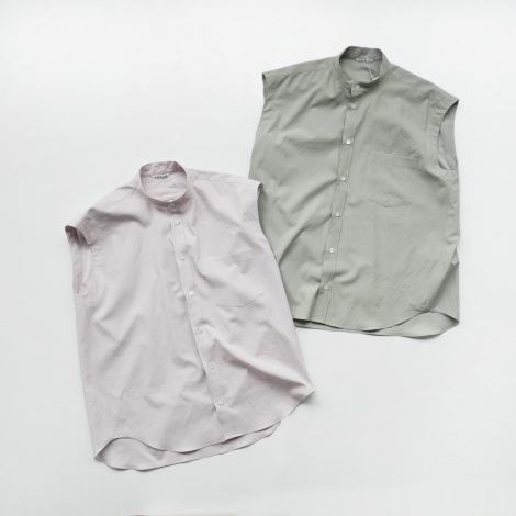 auralee-washedfinxtwillsleevelessshirts