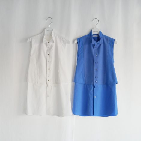 fumikauchida-artpiquewingcollarnosleevewaistcoatsbibshirt