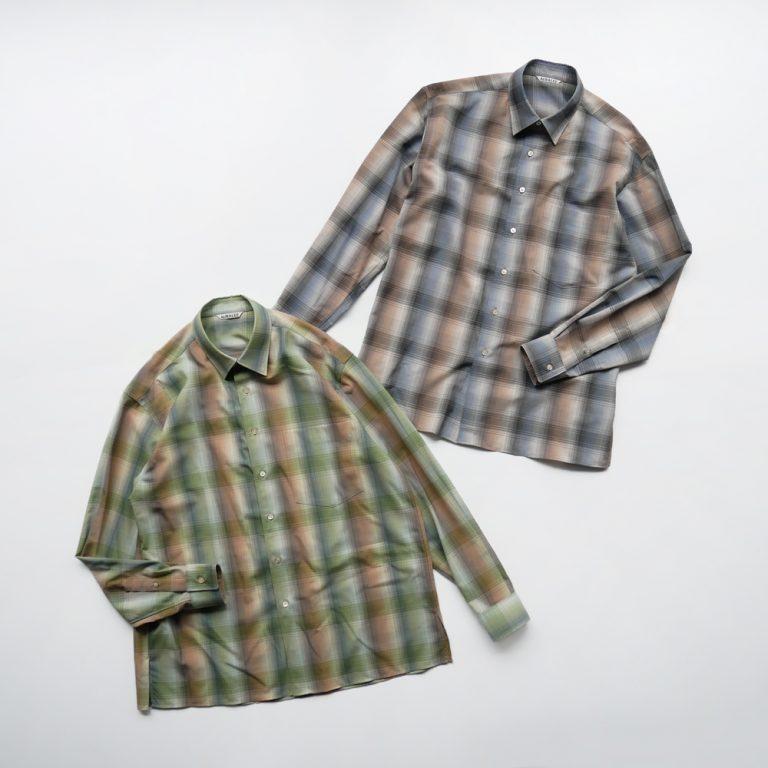 auralee-superlightwoolcheckshirts