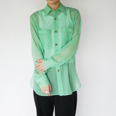 auraleewomens-woolrecyclepolyestersheerclothshirt