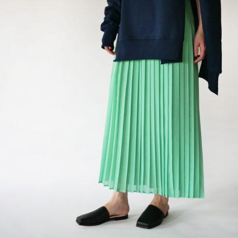 auraleewomens-woolrecyclepolyestersheerclothpleatedskirt