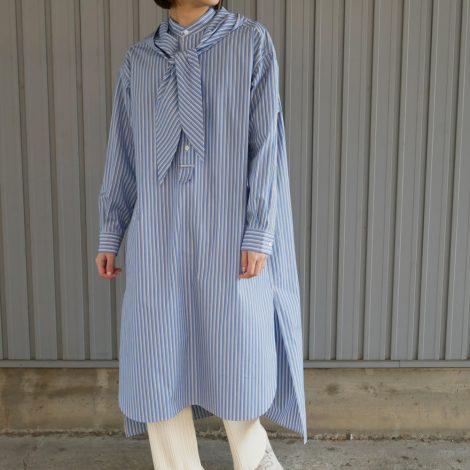 scyewomens-stripedcottonpoplinhoodedshirtdress