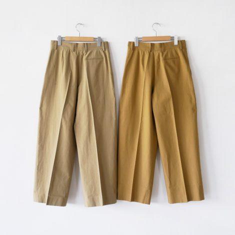 cristaseya-japanesecottonlinedoublepleatedtrousers