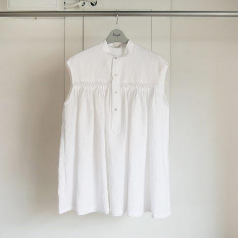 scyewomen-linenpintuckedsleevelessshirts