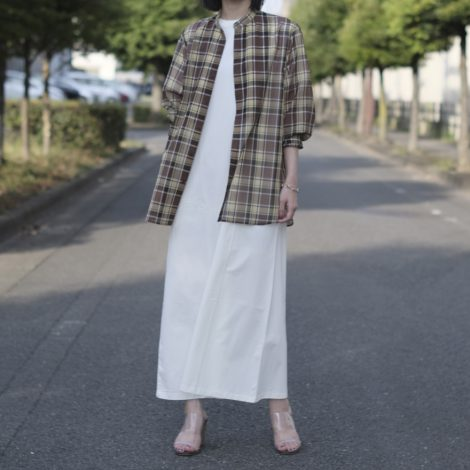 auraleewomens-woolrecyclepolyestersheerclothstandcollarshirts