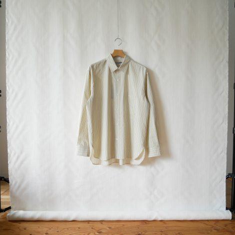 cristaseya-stripedcottonoversizedclassiccollarshirt